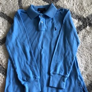 Ralph Lauren boys long sleeve blue shirt size 8